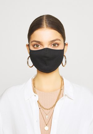 5 PACK - Stoffmaske - black