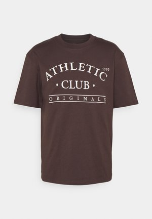 JORTOBIAS TEE CREW NECK FRONT BIG UNISEX  - Print T-shirt - seal brown