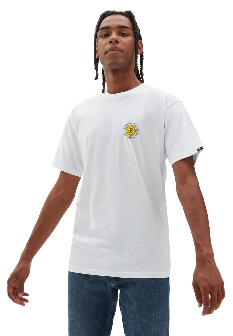 Vans - MN DAY AND NIGHT SS - Print T-shirt - white