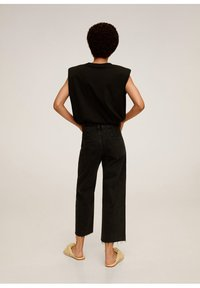 Mango - CANDY - Flared jeans - black denim - 2