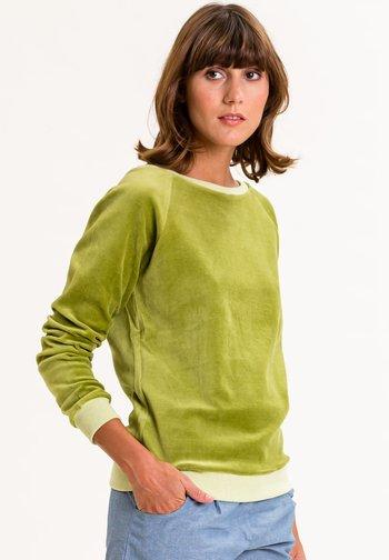 Sweatshirt - apfelgrün