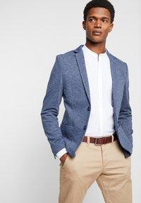 Pier One - Blazer jacket - mottled blue - 0