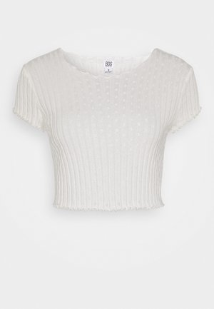 POINTELLE TEE - Print T-shirt - ivory