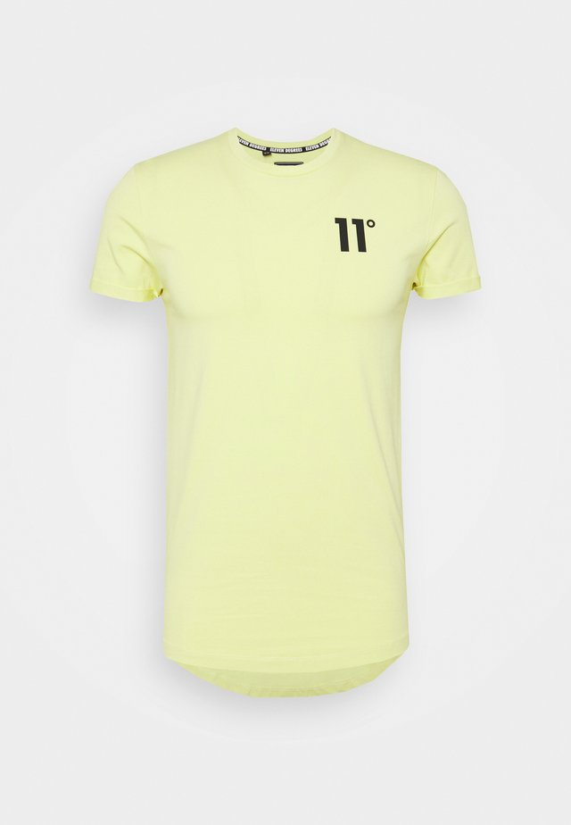 MUSCLE FIT - T-shirt con stampa - canary yellow