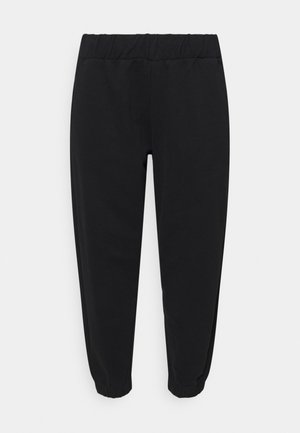ELASTICATED CUFF JOGGERS - Tracksuit bottoms - black