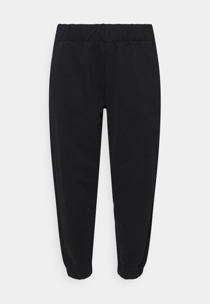 NU-IN - ELASTICATED CUFF JOGGERS - Teplákové kalhoty - black
