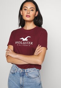 Hollister Co. - TIMELESS LOGO - Print T-shirt - burgundy - 3