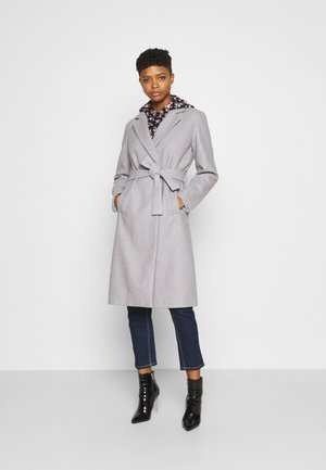 VIPAKA COOLEY TIE BELT  - Classic coat - light grey melange