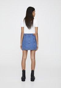 PULL&BEAR - Denim skirt - mottled dark blue - 2