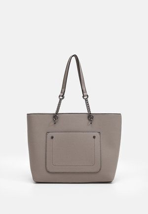 SLIP POCKET CHAIN HANDLE SHOPPER - Tote bag - dark grey