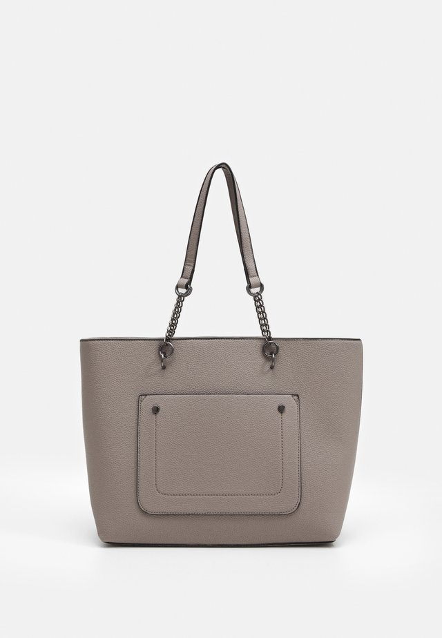 SLIP POCKET CHAIN HANDLE SHOPPER - Shopping bag - dark grey
