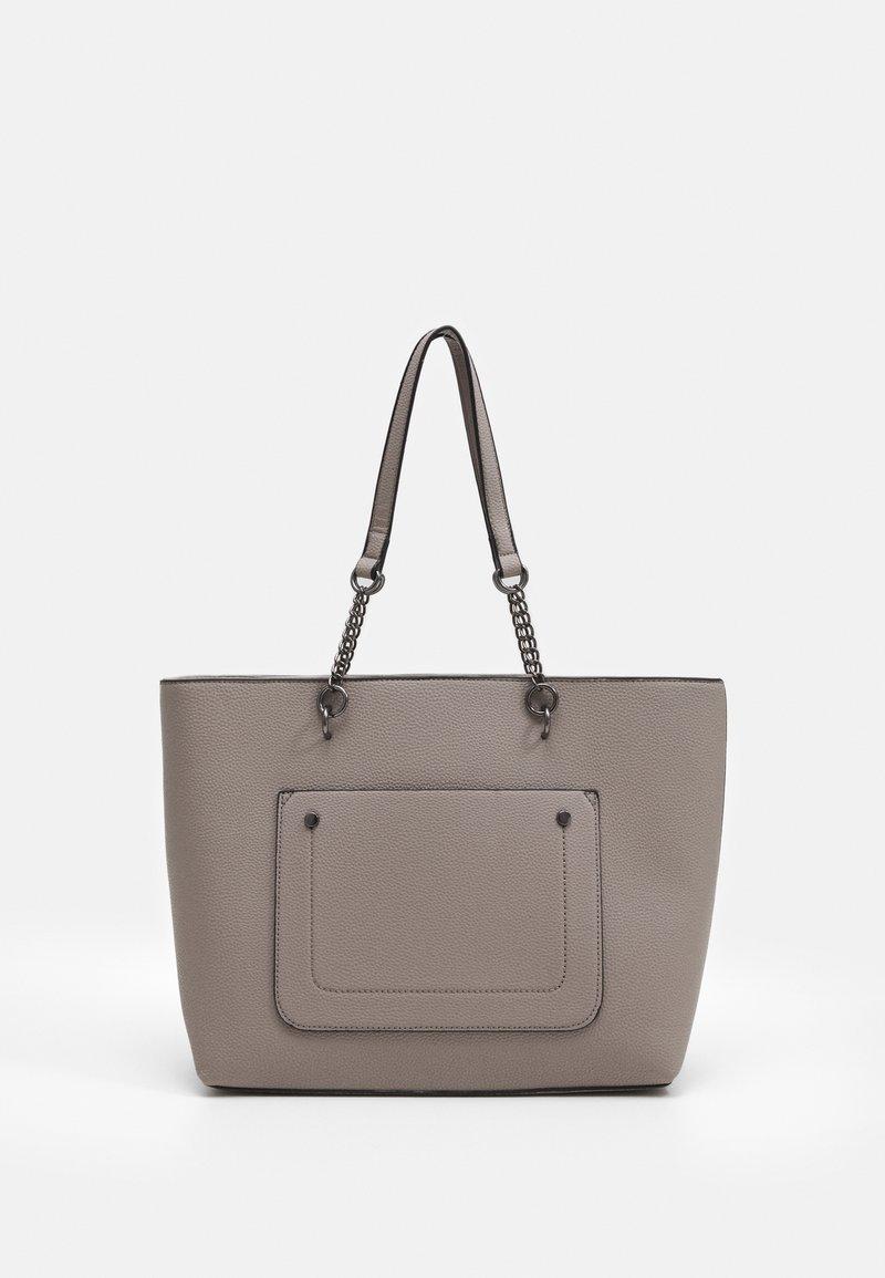 Dorothy Perkins - SLIP POCKET CHAIN HANDLE SHOPPER - Tote bag - dark grey