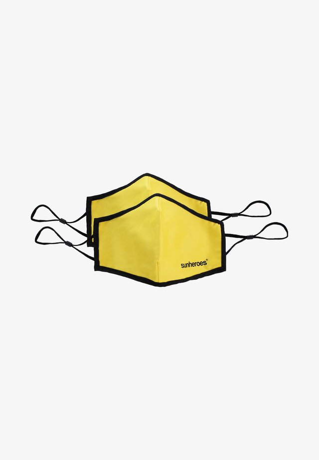 2 PACK  - Látková maska - yellow