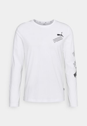 AMPLIFIED TEE - Langarmshirt - puma white