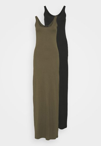 VMNANNA ANCLE DRESS 2 PACK - Maxi dress - black/ivy green