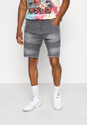 NAAXEL - Denim shorts - grey