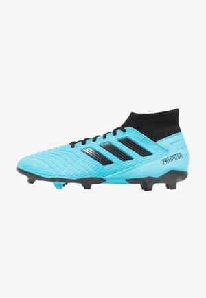 PREDATOR 19.3 FG - Fodboldstøvler m/ faste knobber - bright cyan/core black/solar yellow