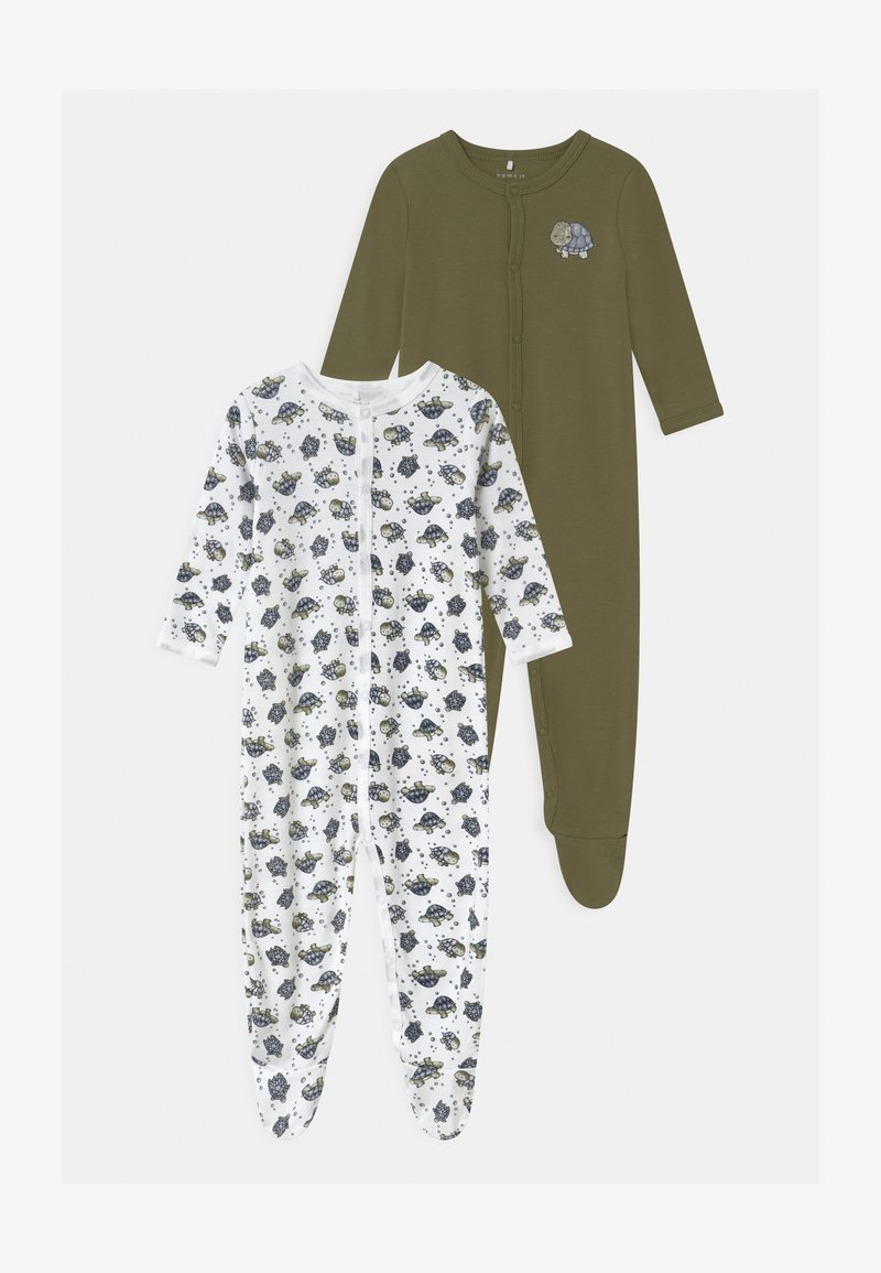 Name it - NBMNIGHTSUIT LODEN TURTLE 2 PACK - Sleep suit - loden green