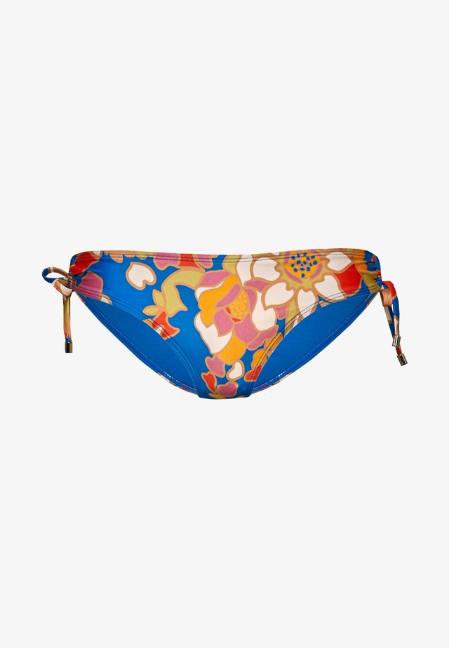 PINATA RUCHED SIDE PANT - Bikini bottoms - blue