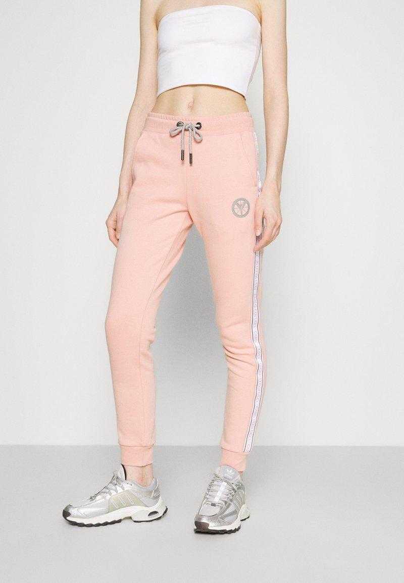 Carlo Colucci - BASIC PANT - Teplákové kalhoty - rosé