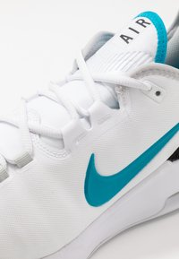 Nike Performance - NIKECOURT AIR MAX WILDCARD - Multicourt tennis shoes - white/neon turquoise/grey fog/hot lime - 5