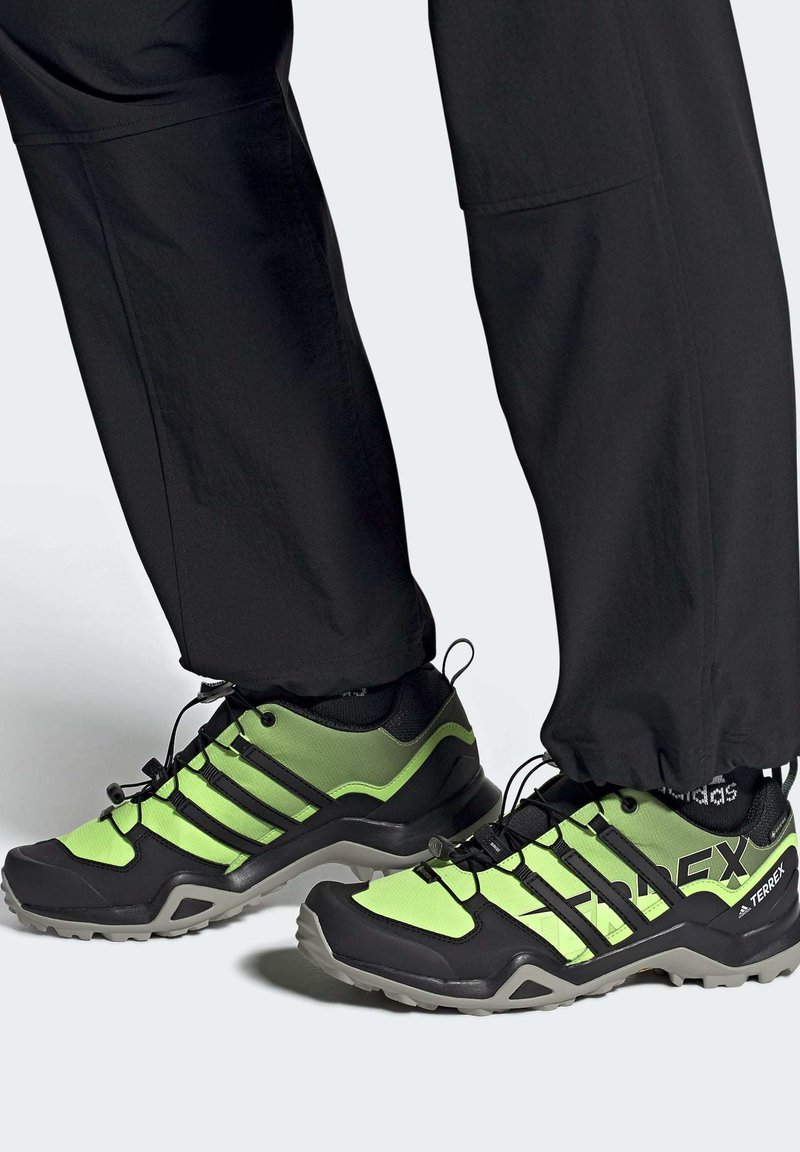 adidas Performance - TERREX SWIFT GORE-TEX HIKING SHOES - Hiking shoes - green