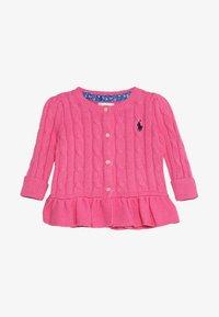 Polo Ralph Lauren - PEPLUM CARDI BABY - Kardigan - baja pink - 2