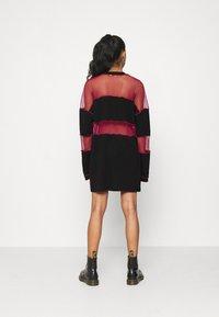 The Ragged Priest - FISHNET SKATER DRESS - Jersey dress - black/red - 2