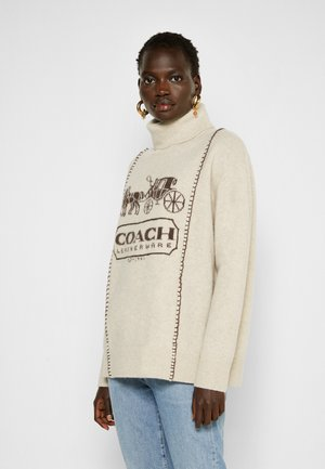 HORSE AND CARRIAGE - Sweter - oatmeal