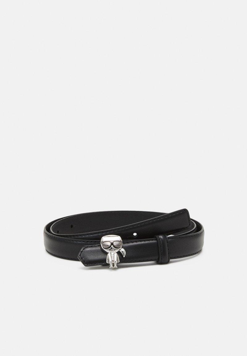 KARL LAGERFELD - IKONIK PIN BELT - Belt - black