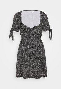 PAMELA REIF X ZALANDO RUCHED DETAIL MINI DRESS - Jersey dress - black