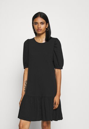 ONLANNY 2/4 PUFF DRESS - Jersey dress - black