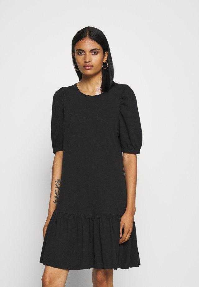 ONLANNY 2/4 PUFF DRESS - Jersey dress - black