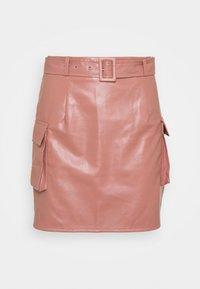 Missguided - BELTED POCKET DETAIL MINI SKIRT - Mini skirt - pink - 3