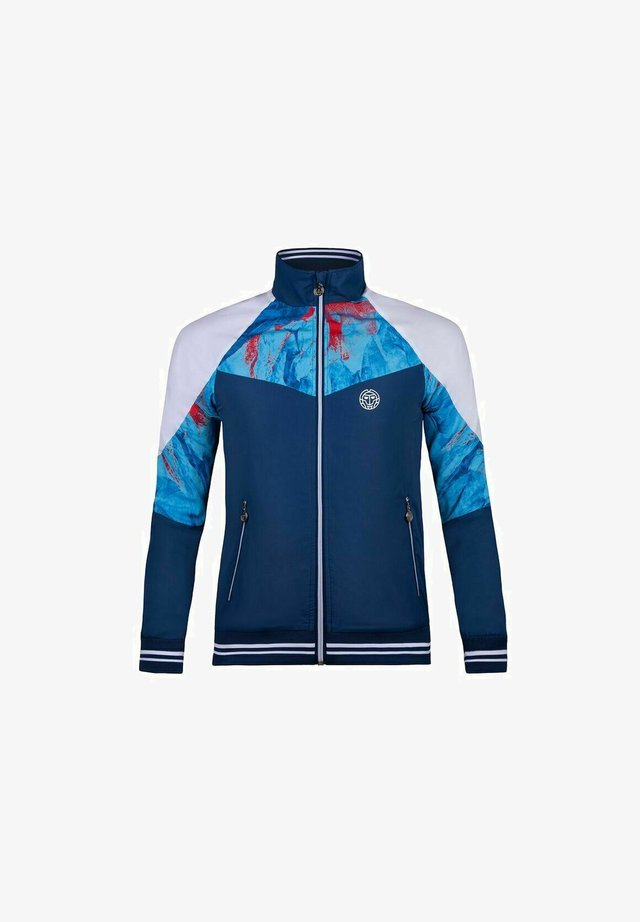 JABU TECH - Veste de survêtement - dark blue, aqua