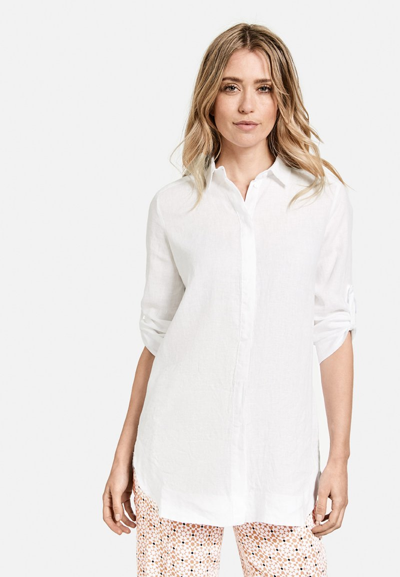 Gerry Weber - Button-down blouse - weiß/weiß