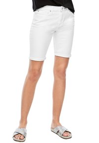 Q/S designed by - Denim shorts - white - 3