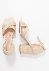 NA-KD - BRAIDED  - Sandals - natural - 3