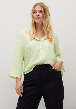 Stehkragen - Blouse - pastellgrün