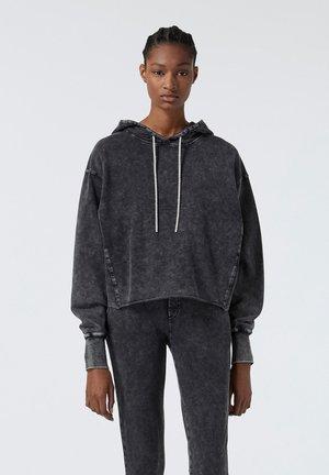 Hoodie - grey washed