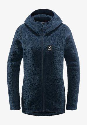 PILE HOOD  - Fleece jacket - tarn blue