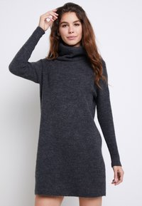 ONLY - ONLJANA COWLNECK DRESS  - Strikkjoler -  grey - 0