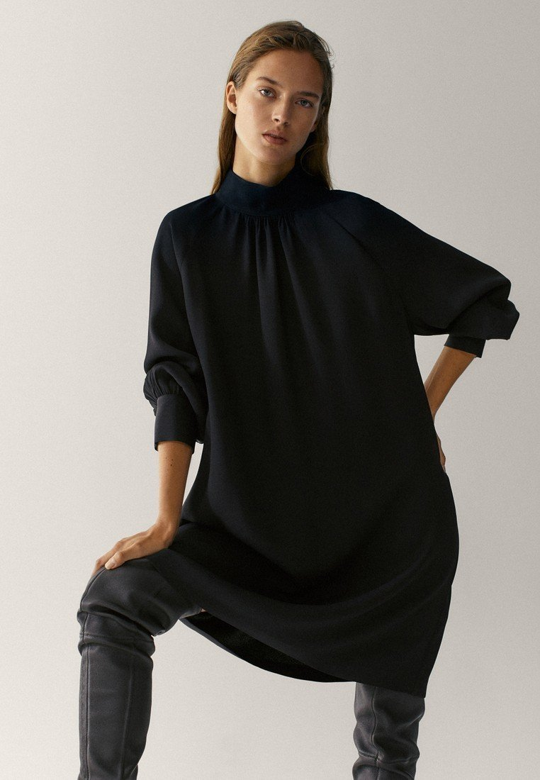 Massimo Dutti - Jumper dress - black