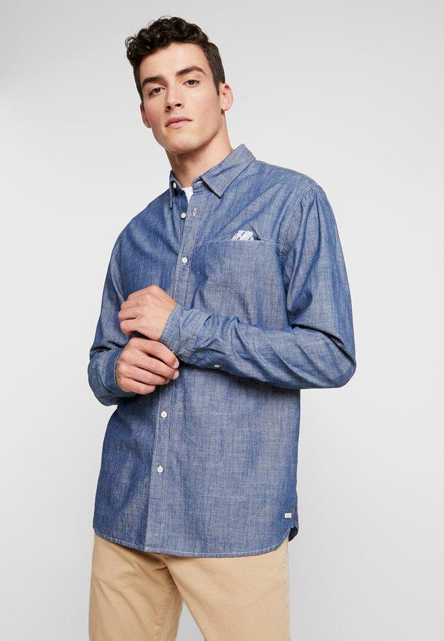 LONG SLEEVE WITH POCHET POCKET - Shirt - blue denim