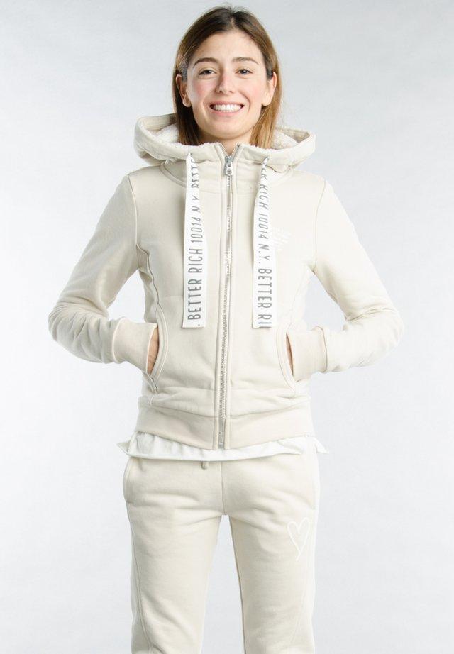 Zip-up hoodie - 6305 pelican