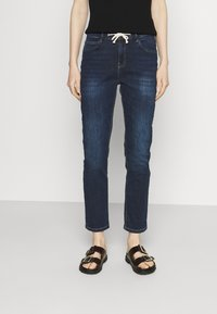 Opus - LOUIS - Jeans straight leg - dark washed blue - 0