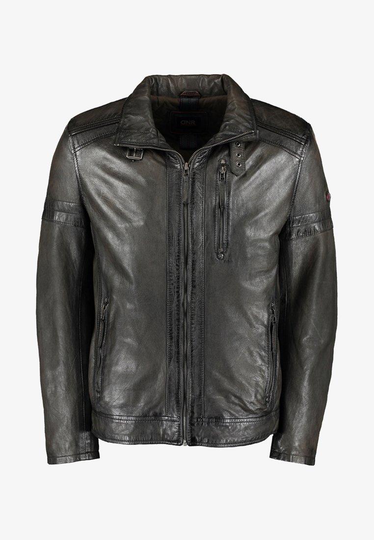 DNR Jackets - Leather jacket - dark green