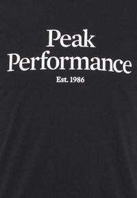 Peak Performance - ORIGINAL TEE - Print T-shirt - black - 2