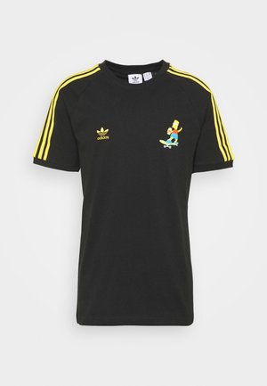 THE SIMPSONS  3 STRIPES TEE - Printtipaita - black