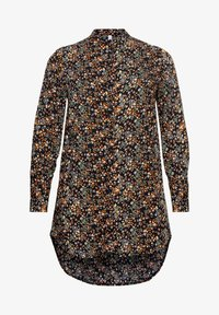 Sheego - Button-down blouse - schwarz bedruckt - 5